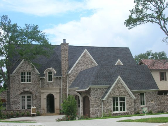 Snyder Claystone Show Home in Frisco--one of the first joint marketing efforts by the DFW Brick Council.